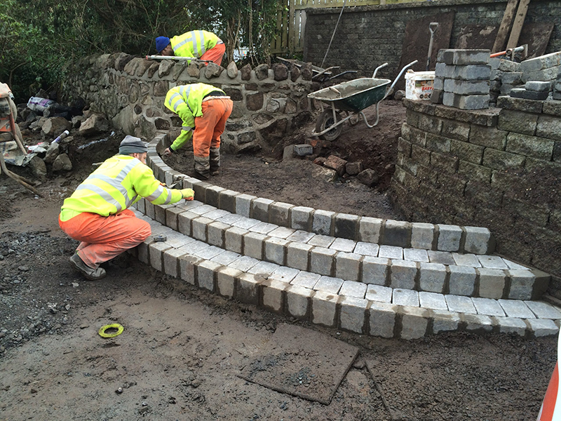 Victoria Driveways - Steps construction
